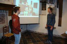 foto van Willem van de Wetering en Coen van Dijk tijdens de presentatie.